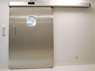 Drzwi nierdzewne przesuwne przeciwradiacyjne